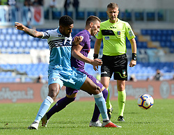 October 7, 2018 - Rome, Italy - Marko Pjaca and Fortuna Dos Santos Wallace during the Italian Serie A football match between S.S. Lazio and Fiorentina at the Olympic Stadium in Rome, on october 07, 2018. (Credit Image: © Silvia Lore/NurPhoto/ZUMA Press)