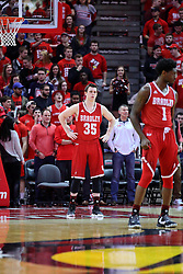 11 February 2017:  Jayden Hodgson during a College MVC (Missouri Valley conference) mens basketball game between the Bradley Braves and Illinois State Redbirds in  Redbird Arena, Normal IL