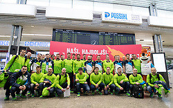 Slovenian hockey team at departure of Slovenian Olympic team to PyeongChang, on February 6, 2018 in Aerodrom Ljubljana, Cerklje na Gorenjskem, Slovenia. Photo by Matic Klansek Velej / Sportida
