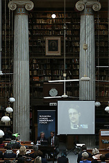 Athens: Edward Snowden, via video link, at the Athens Democracy Forum, 16 September 2016