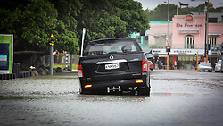 A combination of king tides and heavy rain flood Tamaki Drive, Auckland, New Zealand, Friday, January 05, 2018. Credit:SNPA / Hayden Woodward**NO ARCHIVING**