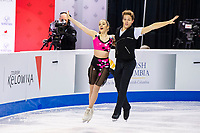 KELOWNA, BC - OCTOBER 25: American ice dancers Caroline Green and Michael Parsons perform during the rhythm dance at Skate Canada International held at Prospera Place on October 25, 2019 in Kelowna, Canada. (Photo by Marissa Baecker/Shoot the Breeze)