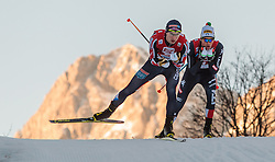 20.12.2015, Nordische Arena, Ramsau, AUT, FIS Weltcup Nordische Kombination, Langlauf, im Bild v.l.: Jan Schmid (NOR), Samuel Costa (ITA) // Jan Schmid of Norway, Samuel Costa of Italy during Cross Country Competition of FIS Nordic Combined World Cup, at the Nordic Arena in Ramsau, Austria on 2015/12/20. EXPA Pictures © 2015, PhotoCredit: EXPA/ JFK