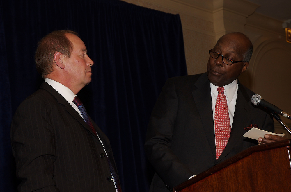 Michael Turner, CEO of BAE Systems PLC, addresses members of the Economic Club of Washington at the Ritz Carlton Washington DC