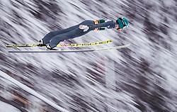 03.02.2019, Heini Klopfer Skiflugschanze, Oberstdorf, GER, FIS Weltcup Skiflug, Oberstdorf, im Bild Michael Hayboeck (AUT) // Michael Hayboeck of Austria during his Jump of FIS Ski Jumping World Cup at the Heini Klopfer Skiflugschanze in Oberstdorf, Germany on 2019/02/03. EXPA Pictures © 2019, PhotoCredit: EXPA/ JFK
