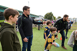 Nick Schonert and Darren Barry interact with children at the Community Kid Zone - Mandatory by-line: Dougie Allward/JMP - 22/10/2016 - RUGBY - Sixways Stadium - Worcester, England - Worcester Warriors v Brive - European Challenge Cup