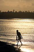 Fisherman walking, Jaffna lagoon.