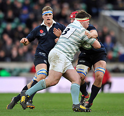 Jacob Poulton of Cambridge University goes on the attack - Photo mandatory by-line: Patrick Khachfe/JMP - Mobile: 07966 386802 11/12/2014 - SPORT - RUGBY UNION - London - Twickenham Stadium - Oxford University v Cambridge University - The Varsity Match