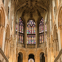 The interior of Norwich Cathedral in Norfolk in England