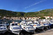 The harbour at Komiza, Vis, Croatia