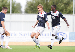 Falkirk's Jay Fulton celebrates after scoring their goal.<br /> Falkirk 1 v 2 Hamilton, Scottish Championship 31/8/2013.<br /> &copy;Michael Schofield.