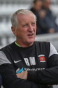 Hartlepool United Manager Ronnie Moore  during the Sky Bet League 2 match between Hartlepool United and Leyton Orient at Victoria Park, Hartlepool, England on 15 November 2015. Photo by Simon Davies.