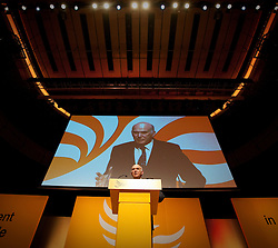© London News Pictures. 10/03/2012. Gateshead, UK. Business Secretary VINCE CABLE speaking on day 2 of the Liberal Democrat Spring Conference at The Sage Gateshead on March 10th, 2012. Photo credit : Ben Cawthra/LNP