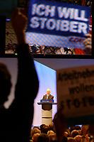 20 SEP 2002, BERLIN/GERMANY:<br /> Edmund Stoiber, CSU, Ministerpraesident Bayern und CDU/CSU Kanzlerkandidat, waehrend seiner Rede auf der CDU Wahlkampfabschlussveranstaltung, Max-Schmeling-Halle<br /> IMAGE: 20020920-01-007<br /> KEYWORDS: Wahlkampf, Abschluss, Abschluß, Kundgebung, speech