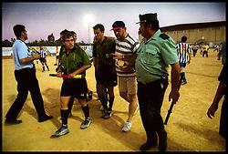 Sevilla, Andalucia, Spain<br /> Players in the small village of Viso del Alcor in Sevilla<br /> &copy;Carmen Secanella.