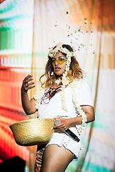 MIA (Mathangi Arulpragasam) performs live at Bestival 2018 Lulworth Castle - Wareham. Picture date: Sunday 5th August 2018. Photo credit should read: David Jensen/EMPICS Entertainment