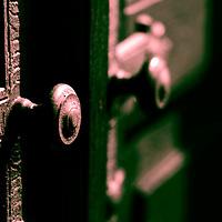 An old door handle