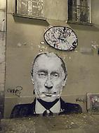 France. Paris. 4th district.  graffitti in le marais