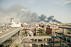 Romefrom Radisson Sas hotel and Fire from Appia road