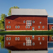Red Barn and Reflection in Columbia County, NY
