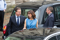 Westminster, London, June 23rd 2016. British Prime Minister David Cameron and his wife Samantha arrive at Westminster Central Hall to vote in the UK's EU referendum.