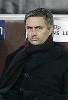 Photo: Barry Bland.<br />RSC Anderlecht v Chelsea. UEFA Champions League.<br />23/11/2005.<br />Chelsea manager Jose Mourinho.