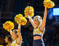 Dec 10, 2016; Morgantown, WV, USA; West Virginia Mountaineers cheerleaders perform before their game against the Virginia Military Keydets at WVU Coliseum. Mandatory Credit: Ben Queen-USA TODAY Sports