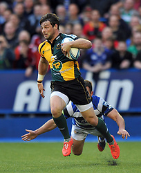 Ben Foden (Northampton) looks to counter-attack - Photo mandatory by-line: Patrick Khachfe/JMP - Tel: Mobile: 07966 386802 23/05/2014 - SPORT - RUGBY UNION - Cardiff Arms Park, Cardiff - Bath Rugby v Northampton Saints - Amlin Challenge Cup Final.