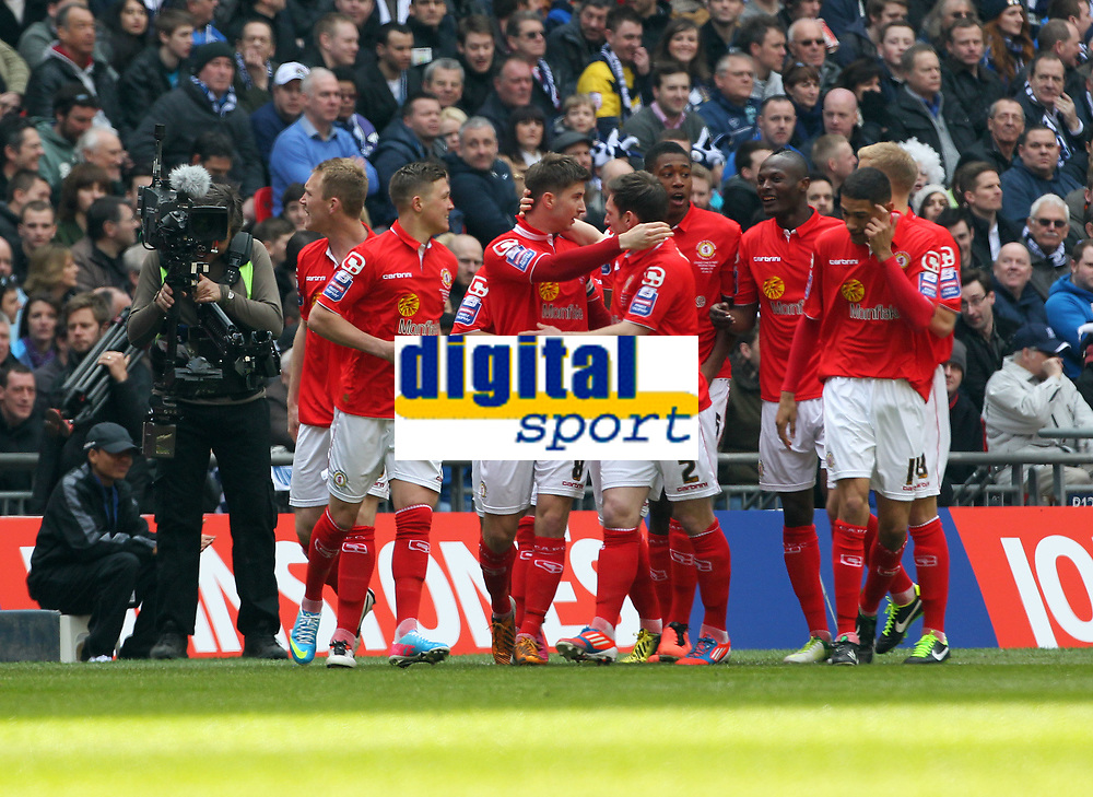Johnstone's Paint Trophy Final - 07/04/2013 - <br /> Wembley Stadium - Crewe Alexandra vs Southend United<br /> Crewe's Luke Murphy celebrates scoring the opening goal