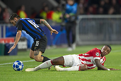October 4, 2018 - Eindhoven, Netherlands - Matteo Politano of Inter and Steven Bergwijn of PSV during the UEFA Champions League Group B match between PSV Eindhoven and FC Internazionale Milano at Philips Stadium in Eindhoven, Holland on October 3, 2018  (Credit Image: © Andrew Surma/NurPhoto/ZUMA Press)