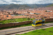 Double deck bus tour, Cusco; Urubamba Province; Peru