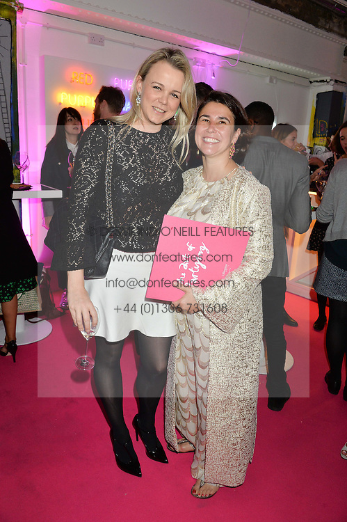 Left to right, SOPHIE MICHELL and SOPHIE LILLINGSTON at Light Up Your Life - a party hosted by Lillingston held at Lights of Soho, 35 Brewer Street, London on 1st October 2015.