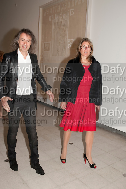 IVOR BRAKA; SARAH BRAKA, Opening of Love is what you want. Exhibition of work by Tracey Emin. Hayward Gallery. Southbank Centre. London. 16 May 2011. <br /> <br />  , -DO NOT ARCHIVE-© Copyright Photograph by Dafydd Jones. 248 Clapham Rd. London SW9 0PZ. Tel 0207 820 0771. www.dafjones.com.