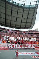 Fussball 1. Bundesliga :  Saison   2009/2010   34. Spieltag   Hertha BSC Berlin - FC Bayern Muenchen    08.05.2010 Jubel Fans mit Fahnen