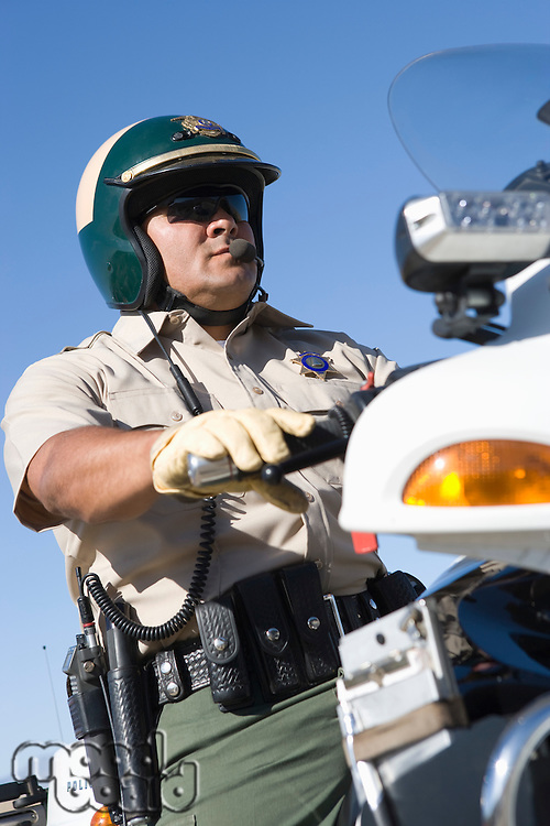 Low angle view of Police officer