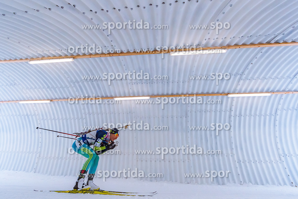 17.02.2017, Biathlonarena, Hochfilzen, AUT, IBU Weltmeisterschaften Biathlon, Hochfilzen 2017, Staffel Damen, im Bild Yuliia Dzhima (UKR) // Yuliia Dzhima of Ukraine // during Womens Relay of the IBU Biathlon World Championships at the Biathlonarena in Hochfilzen, Austria on 2017/02/17. EXPA Pictures © 2017, PhotoCredit: EXPA/ JFK