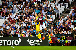Sofiane Feghouli of West Ham and Jure Balkovec of NK Domzale during 2nd Leg football match between West Ham United FC and NK Domzale in 3rd Qualifying Round of UEFA Europa league 2016/17 Qualifications, on August 4, 2016 in London, England.  Photo by Ziga Zupan / Sportida