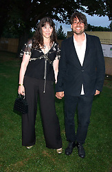 Musician ALEX JAMES and his wife  at the annual Serpentine Gallery Summer Party co-hosted by Jimmy Choo shoes held at the Serpentine Gallery, Kensington Gardens, London on 30th June 2005.<br /><br />NON EXCLUSIVE - WORLD RIGHTS