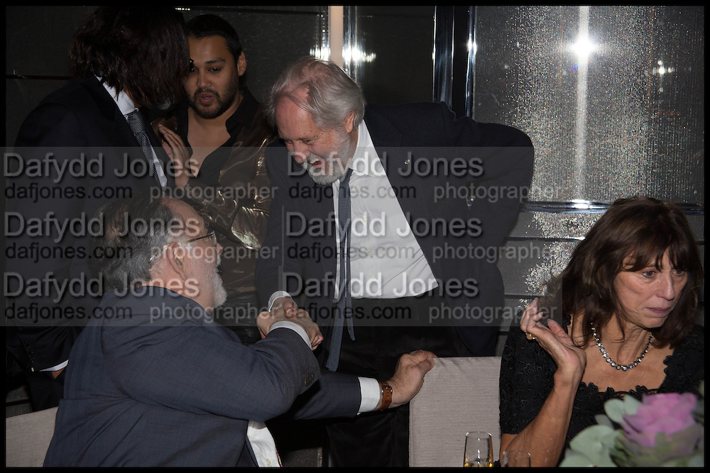 FRANCIS FORD COPPOLA; PABLO GANGULI; DAVID PUTNAM; VALERIE WADE; , Liberatum Cultural Honour for Francis Ford Coppola<br /> with Bulgari Hotel & Residences, London. 17 November 2014