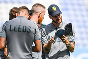 Leeds United midfielder Mateusz Klich (43) arrives at the ground during the EFL Sky Bet Championship match between Wigan Athletic and Leeds United at the DW Stadium, Wigan, England on 17 August 2019.