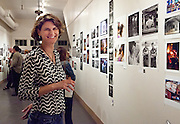 Gallery director, Michelle Wuttke; Push Pin show opening reception at New Orleans Photo Alliance gallery