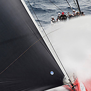 COMANCHE leaving Sydney Harbour during the start of the 2015 Rolex Sydney to Hobart yacht race<br /> 26/12/2015<br /> ph. Andrea Francolini