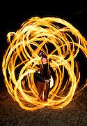 Travis Hopson spinning fire, Austin Texas, March 3, 2009.