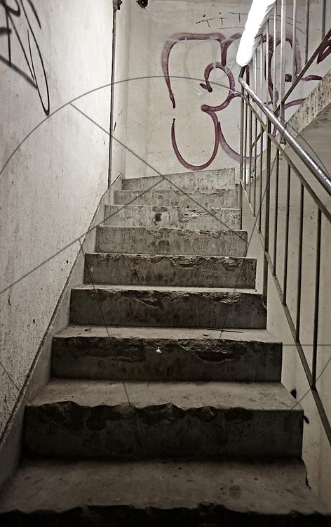 DLG-siloen Nordhavn, Unionkul, ombygning af kornsilo til luksuslejligheder, Klaus Kastbjerg, trappe