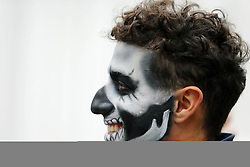 Daniel Ricciardo (AUS) Red Bull Racing with Halloween themed face paint.<br /> 27.10.2016. Formula 1 World Championship, Rd 19, Mexican Grand Prix, Mexico City, Mexico, Preparation Day.<br />  <br /> / 271016 / action press