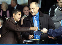 Photo: Olly Greenwood.<br />Southend United v Carlisle United. Coca Cola League 1. 27/10/2007. Ex Spurs manager Martin Jol and Chris Hughton sign autographs