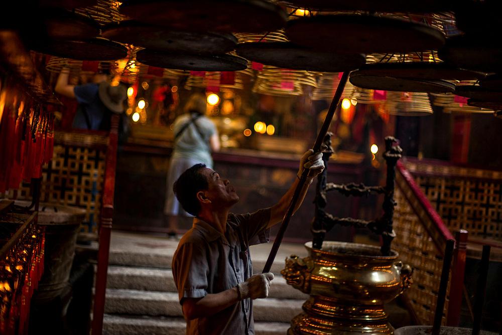 Hong Kong   03.05.2017: Hong Kong <br /> <br /> hier:  Man Mo Temple auf Hong Kong Island<br />  <br /> Sascha Rheker<br /> 20170503<br /> <br /> [Inhaltsveraendernde Manipulation des Fotos nur nach ausdruecklicher Genehmigung des Fotografen. Vereinbarungen ueber Abtretung von Persoenlichkeitsrechten/Model Release der abgebildeten Person/Personen liegt/liegen nicht vor.]