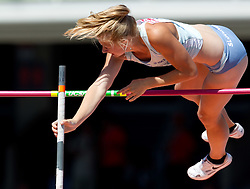 Tina Sutej of Slovenia competes during the women's pole vault qualifications at the 2010 European Athletics Championships at the Olympic Stadium in Barcelona on July 28, 2010.(Photo by Vid Ponikvar / Sportida)