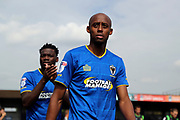 AFC Wimbledon midfielder Jimmy Abdou (8) walking onto pitch during the EFL Sky Bet League 1 match between AFC Wimbledon and Doncaster Rovers at the Cherry Red Records Stadium, Kingston, England on 26 August 2017. Photo by Matthew Redman.