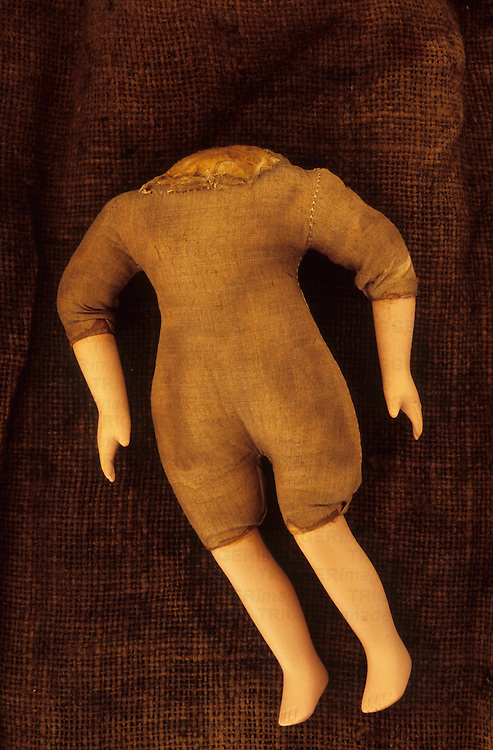 Headless body of doll